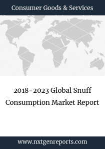 2018-2023 Global Snuff Consumption Market Report