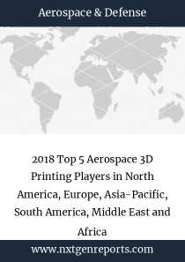 2018 Top 5 Aerospace 3D Printing Players in North America, Europe, Asia-Pacific, South America, Middle East and Africa