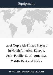2018 Top 5 Air Filters Players in North America, Europe, Asia-Pacific, South America, Middle East and Africa
