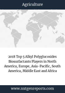 2018 Top 5 Alkyl Polyglucosides Biosurfactants Players in North America, Europe, Asia-Pacific, South America, Middle East and Africa