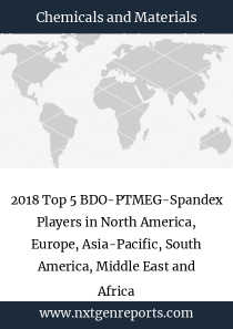 2018 Top 5 BDO-PTMEG-Spandex Players in North America, Europe, Asia-Pacific, South America, Middle East and Africa