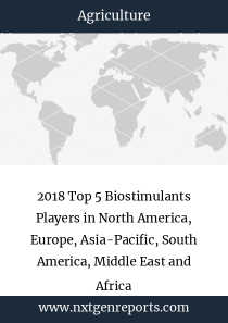 2018 Top 5 Biostimulants Players in North America, Europe, Asia-Pacific, South America, Middle East and Africa