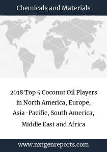 2018 Top 5 Coconut Oil Players in North America, Europe, Asia-Pacific, South America, Middle East and Africa