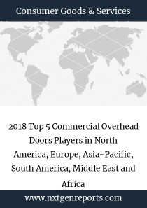 2018 Top 5 Commercial Overhead Doors Players in North America, Europe, Asia-Pacific, South America, Middle East and Africa