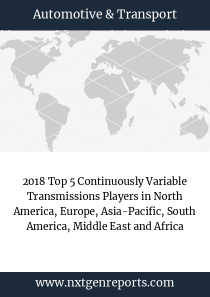 2018 Top 5 Continuously Variable Transmissions Players in North America, Europe, Asia-Pacific, South America, Middle East and Africa