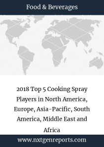 2018 Top 5 Cooking Spray Players in North America, Europe, Asia-Pacific, South America, Middle East and Africa