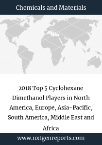 2018 Top 5 Cyclohexane Dimethanol Players in North America, Europe, Asia-Pacific, South America, Middle East and Africa