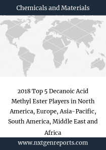 2018 Top 5 Decanoic Acid Methyl Ester Players in North America, Europe, Asia-Pacific, South America, Middle East and Africa