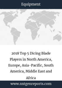 2018 Top 5 Dicing Blade Players in North America, Europe, Asia-Pacific, South America, Middle East and Africa