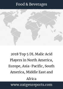 2018 Top 5 DL Malic Acid Players in North America, Europe, Asia-Pacific, South America, Middle East and Africa