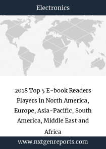 2018 Top 5 E-book Readers Players in North America, Europe, Asia-Pacific, South America, Middle East and Africa