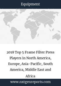 2018 Top 5 Frame Filter Press Players in North America, Europe, Asia-Pacific, South America, Middle East and Africa