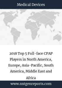 2018 Top 5 Full-face CPAP Players in North America, Europe, Asia-Pacific, South America, Middle East and Africa