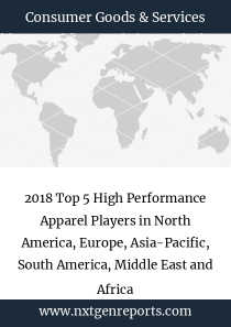 2018 Top 5 High Performance Apparel Players in North America, Europe, Asia-Pacific, South America, Middle East and Africa