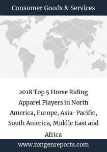 2018 Top 5 Horse Riding Apparel Players in North America, Europe, Asia-Pacific, South America, Middle East and Africa