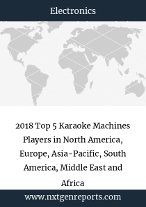 2018 Top 5 Karaoke Machines Players in North America, Europe, Asia-Pacific, South America, Middle East and Africa