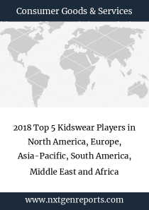 2018 Top 5 Kidswear Players in North America, Europe, Asia-Pacific, South America, Middle East and Africa