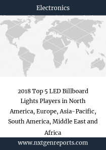 2018 Top 5 LED Billboard Lights Players in North America, Europe, Asia-Pacific, South America, Middle East and Africa
