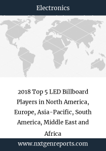 2018 Top 5 LED Billboard Players in North America, Europe, Asia-Pacific, South America, Middle East and Africa