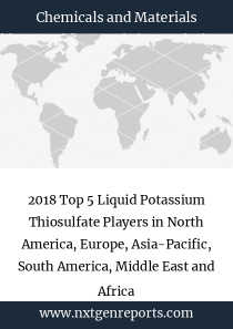 2018 Top 5 Liquid Potassium Thiosulfate Players in North America, Europe, Asia-Pacific, South America, Middle East and Africa