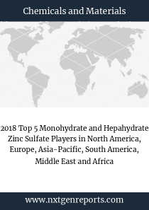 2018 Top 5 Monohydrate and Hepahydrate Zinc Sulfate Players in North America, Europe, Asia-Pacific, South America, Middle East and Africa