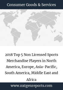 2018 Top 5 Non Licensed Sports Merchandise Players in North America, Europe, Asia-Pacific, South America, Middle East and Africa