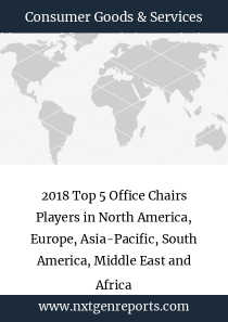 2018 Top 5 Office Chairs Players in North America, Europe, Asia-Pacific, South America, Middle East and Africa