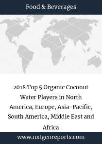 2018 Top 5 Organic Coconut Water Players in North America, Europe, Asia-Pacific, South America, Middle East and Africa