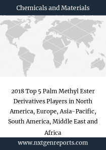 2018 Top 5 Palm Methyl Ester Derivatives Players in North America, Europe, Asia-Pacific, South America, Middle East and Africa