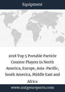 2018 Top 5 Portable Particle Counter Players in North America, Europe, Asia-Pacific, South America, Middle East and Africa