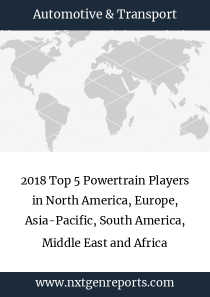 2018 Top 5 Powertrain Players in North America, Europe, Asia-Pacific, South America, Middle East and Africa