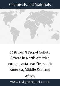 2018 Top 5 Propyl Gallate Players in North America, Europe, Asia-Pacific, South America, Middle East and Africa