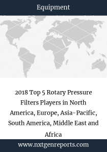 2018 Top 5 Rotary Pressure Filters Players in North America, Europe, Asia-Pacific, South America, Middle East and Africa