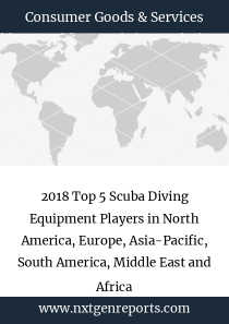 2018 Top 5 Scuba Diving Equipment Players in North America, Europe, Asia-Pacific, South America, Middle East and Africa