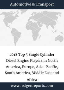 2018 Top 5 Single Cylinder Diesel Engine Players in North America, Europe, Asia-Pacific, South America, Middle East and Africa