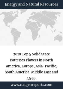 2018 Top 5 Solid State Batteries Players in North America, Europe, Asia-Pacific, South America, Middle East and Africa