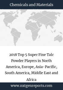2018 Top 5 Super Fine Talc Powder Players in North America, Europe, Asia-Pacific, South America, Middle East and Africa