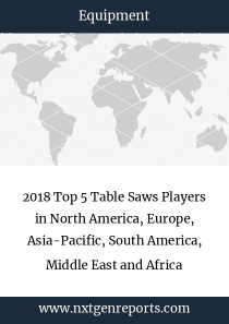 2018 Top 5 Table Saws Players in North America, Europe, Asia-Pacific, South America, Middle East and Africa