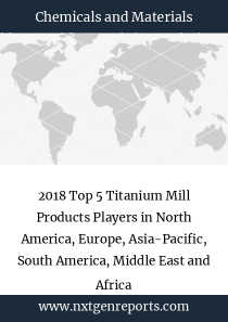 2018 Top 5 Titanium Mill Products Players in North America, Europe, Asia-Pacific, South America, Middle East and Africa