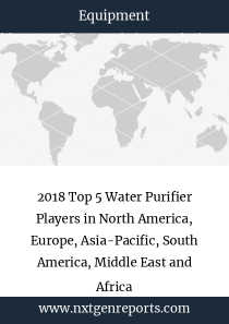2018 Top 5 Water Purifier Players in North America, Europe, Asia-Pacific, South America, Middle East and Africa