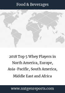 2018 Top 5 Whey Players in North America, Europe, Asia-Pacific, South America, Middle East and Africa