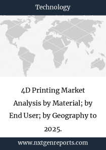 4D Printing Market Analysis by Material; by End User; by Geography to 2025.