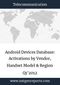 Android Devices Database: Activations by Vendor, Handset Model & Region Q1'2012