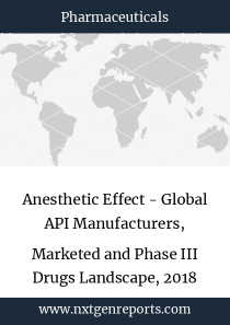 Anesthetic Effect - Global API Manufacturers, Marketed and Phase III Drugs Landscape, 2018