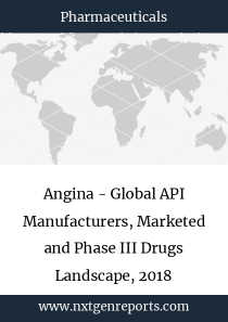 Angina - Global API Manufacturers, Marketed and Phase III Drugs Landscape, 2018