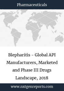 Blepharitis - Global API Manufacturers, Marketed and Phase III Drugs Landscape, 2018