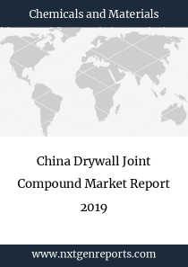 China Drywall Joint Compound Market Report 2019