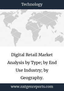 Digital Retail Market Analysis by Type; by End Use Industry; by Geography.