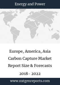 Europe, America, Asia Carbon Capture Market Report Size & Forecasts 2018- 2022