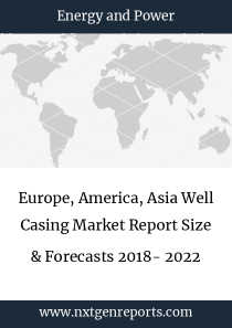 Europe, America, Asia Well Casing Market Report Size & Forecasts 2018- 2022